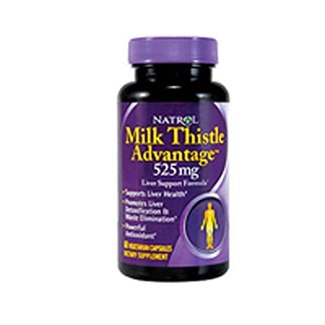 Natrol Milk Thistle Advantage – 525 Mg – 60 Vegetarian Capsules