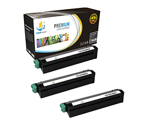 B4600n Printer (Catch Supplies Replacement 43502001 Black Laser Toner Cartridge 3 Pack Set for the OKI B4600 series  7,000 yield  compatible with the Okidata B4600, B4600N printers)