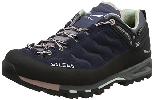 Salewa Women's WS Mtn Trainer GTX-w,Premium Navy/Subtle Green,9 B(M) US by Salewa (Image #1)