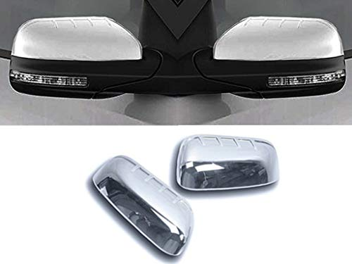 eLoveQ Chrome Top Half Mirror Cover Covers Fits 2011-2016 FORD EXPLORER ()
