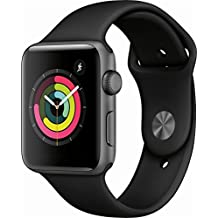 Apple Watch Series 3 (GPS), 42mm Space Gray Aluminum Case with Black Sport Band - MQL12LL/A (Certified Refurbished)