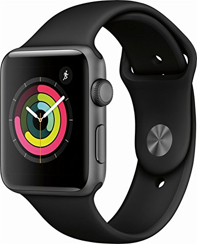 Apple Watch Series 3 (GPS), 42mm Space Gray Aluminum Case with Black Sport Band - MQL12LL/A (Certified Refurbished) by Apple
