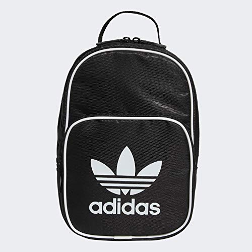 adidas Originals Unisex Santiago Insulated Lunch Bag, Black, ONE SIZE