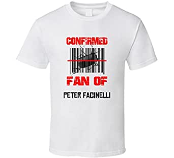 Peter Facinelli NHL Scanned Barcode Fan T shirt 2XL White