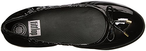 Fitflop Kvinnor Superbendy Ballerinor Loafer Mattsvart Patentet