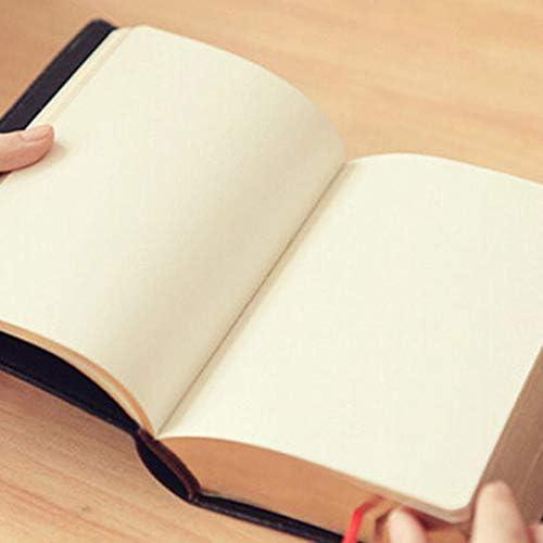 Or XZANTE Bloc-Notes Vintage en Papier /épais Planificateur Agenda Carnet de Journal Bible en Papier Pu Papier Fournitures de Papeterie de Bureau D/école Noir