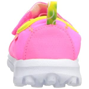 Skechers Kids 81020N GO Walk Athletic Sneaker (Toddler/Little Kid),Neon Pink/Neon Lime,9 M US Toddler