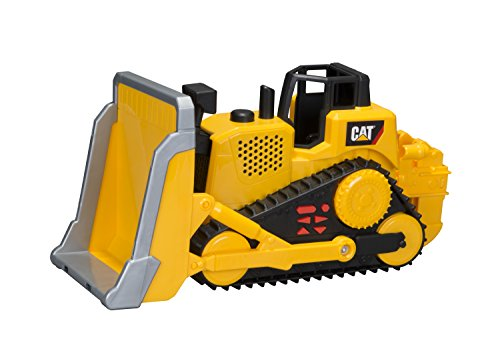 Toy State Caterpillar Construction Job Site Machines: Bulldozer (Styles May (Motorized Bulldozer)