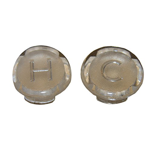 LASCO 0-6103 Hot/Cold Faucet Handle Index Buttons for Streamway, Acrylic by LASCO