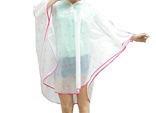 Imperméable Imperméable Raincoat Femmes Vélo De Eva Pour De Réutilisable Poncho Vêtements Imperméable Rose Pluie Imperméable Imperméable Pluie 78xqFwz