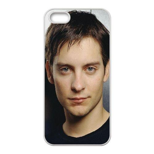 Tobey Maguire Guy Actor Face Close Up coque iPhone 4 4S cellulaire cas coque de téléphone cas blanche couverture de téléphone portable EOKXLLNCD20440