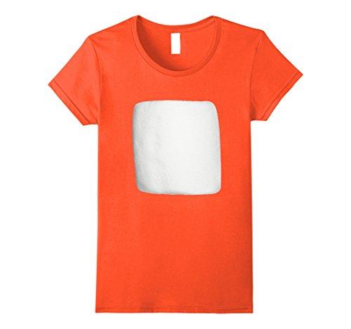 Womens Marshmallow Smores Halloween Costume Shirt XL Orange