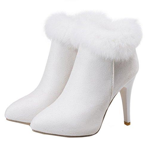YE clásicas YE Mujer Weiß botas botas rwrznqFO8