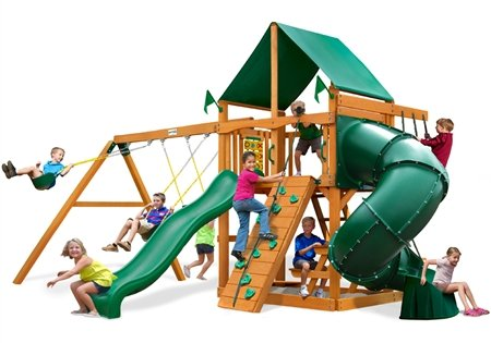 (Gorilla Playsets Mountaineer Swing Set with Amber Posts)