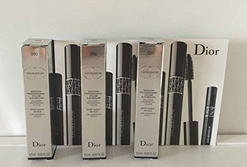 - Dior Diorshow Mascara Professionnel 090 Black Travel Size 1.5ml/0.05oz, Lots of 3