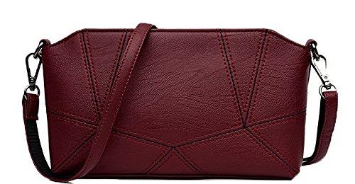 Zippers ROFBL180924 Nubuck Rouge Enveloppe Femme Vineux bandoulière à Sacs Odomolor Achats pqtAx71fw