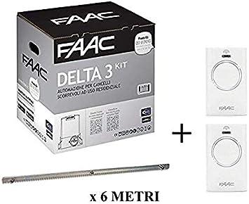 Faac Delta 3 Kit de automatización de puerta corredera 900 kg 105630445 + cremallera Hiltron 6 metros: Amazon.es: Bricolaje y herramientas