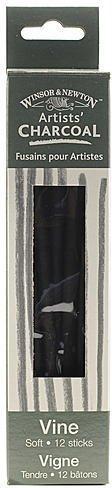 Winsor & Newton Artists' Charcoal (Vine) - Soft (Box of 12) 2 pcs sku# 1838022MA