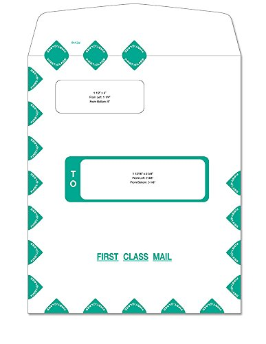 ComplyRight First Class Self Seal Double Window Envelope ()