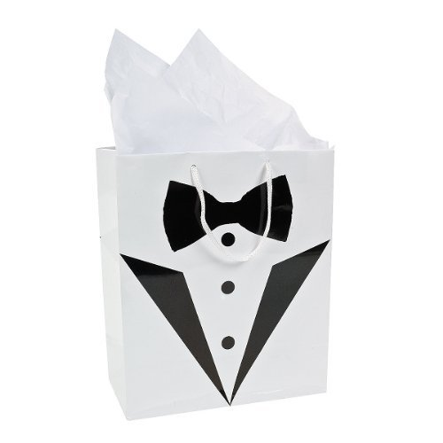 Tuxedo Gift Bags - Perfect for Best Man / Usher / Pageboy Gifts or Favours
