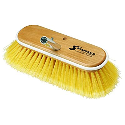 "Shurhold 980 10"" Deck Brush with Soft Yellow Polystyrene Bristles: Automotive"