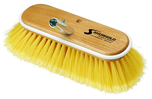 "Price comparison product image Shurhold 980 10"" Deck Brush with Soft Yellow Polystyrene Bristles"
