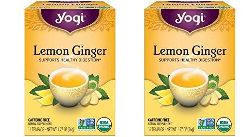 - Yogi Tea Lemon Ginger Tea Bags 16 ea ( pack of 2)