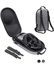 Esimen Fashion Hard Case for Oculus Rift S PC-Powered VR Gaming Headset and Controllers Accessories Travel Bag (Gray)