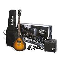 Deals on Epiphone Les Paul Electric Guitar Player Package, Vintage Sunburst