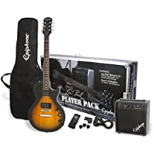 Epiphone PPEG-EGL1VSCH1 Les Paul Electric Guitar Player Package, Vintage Sunburst