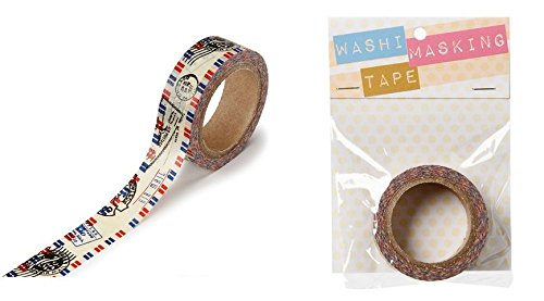 Washi Tape - Air Mail - 5/8 x 312 inch roll (Washi Tape Mail)