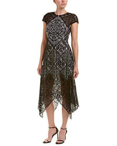 Tadashi Shoji Womens Midi Dress, 14, Black