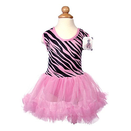 Baby Girls Zebra Print Tutu Dress 12-14 Months Pink