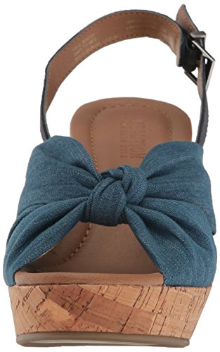Kenneth Cole REACTION Womens Tole Booth Heeled Sandal Blue 65 M US