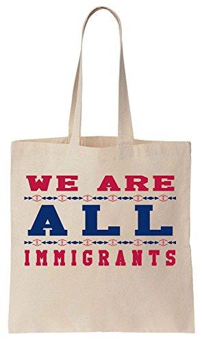 We Are All Immigrants Design Sacchetto di cotone tela di canapa