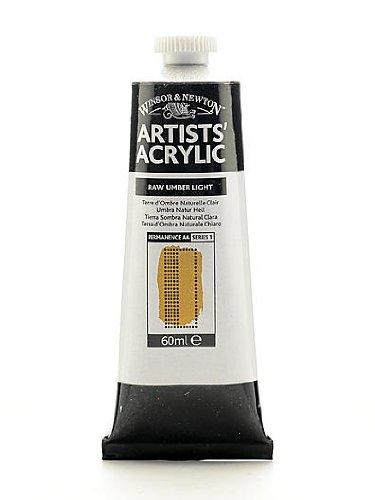 Winsor & Newton Artists' Acrylic Colours raw umber light 60 ml 557 [PACK OF 2 ] (Umber Light Raw)
