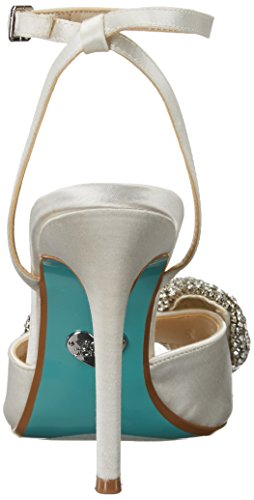 Women's Heeled Satin Johnson Heidi Blue SB Betsey Ivory Sandal pwEqXFFxg