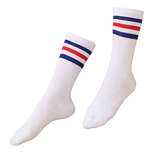 BESTOYARD Triple Stripes Knee High Tube Socks for Daily Dress Costume Christmas Outfit ()