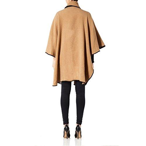 Anastasia Camel Reversible Lana Cabo Mujer Para XqRrXBwPg