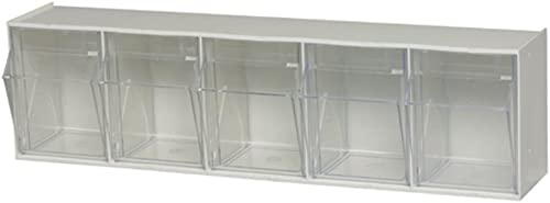 Quantum Storage Systems, White Quantum QTB305 Clear 5-1 4-Inch by 23-5 8-Inch by 6-1 2-Inch Tip Out Bin System