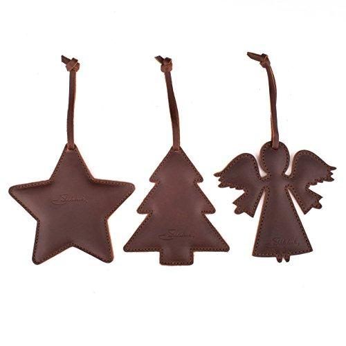 Saddleback Leather Christmas Ornament Set - 100 Year Warranty