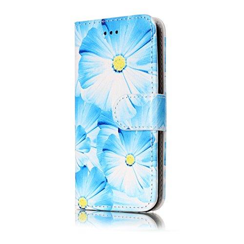 Funda iPod touch 5,SainCat Funda de cuero sintético tipo billetera con de Suave PU Carcasa Con Tapa y Cartera,Elegante Estuche Caja,Pintado en relieve árbol Cuero de la PU Leather Cubierta Plegable Fl Orquídea