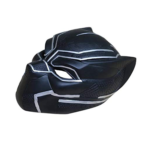 HitHopKing Black Panther Mask, (PVC Mask) Novelty Halloween Costume Black Panther Helmet Deluxe Movie Style Cosplay Mask ()