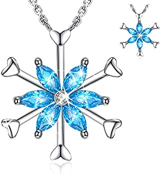 Forever Queen Frozen Snowflake Platinum 925 Sterling Silver Necklace