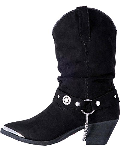 Dingo Womens Camilla Slouch Boot A Punta - Di8920 Nero