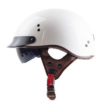 Motocicleta Open Face Medio Casco-D.O.T Certificado Personalizado ...
