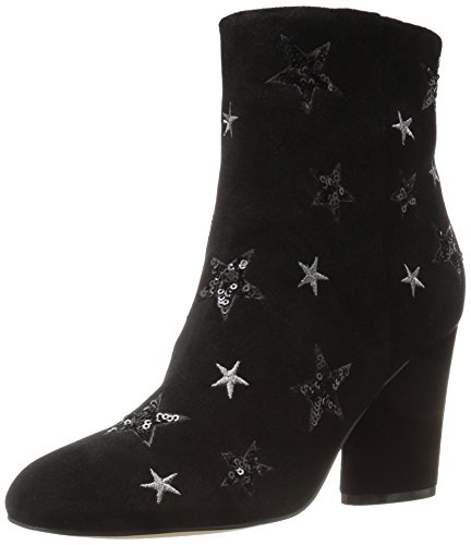 The Fix Women's Nash Star Sequin Oval Heel Ankle Bootie, Black, 8 B US by The Fix (Image #8)