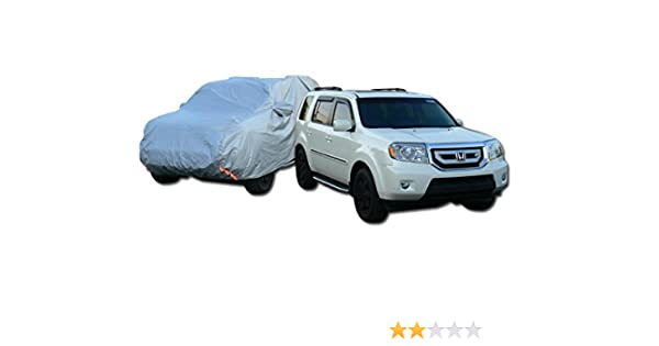 4 Layer Waterproof Anti UV Rain Resistant SUV Car Cover+Mirror Pocket 4850mm