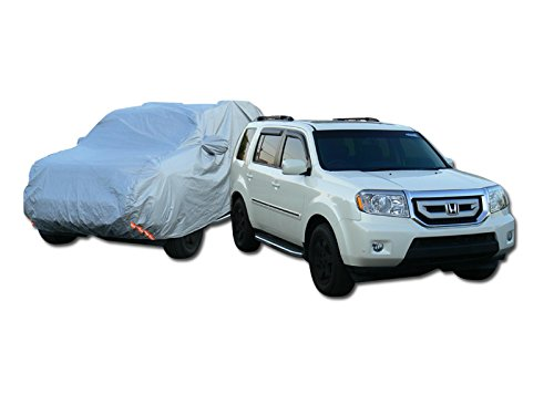 Autobotusa 5100Mm 4 Layer Waterproof Anti Uv Rain Resistant Suv Car Cover+Mirror Pocket Ca1