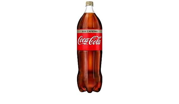 Coca-Cola - Sin Cafeina, Refresco con gas de cola, 2 l (Pack de 6), Botella de plástico: Amazon.es: Alimentación y bebidas